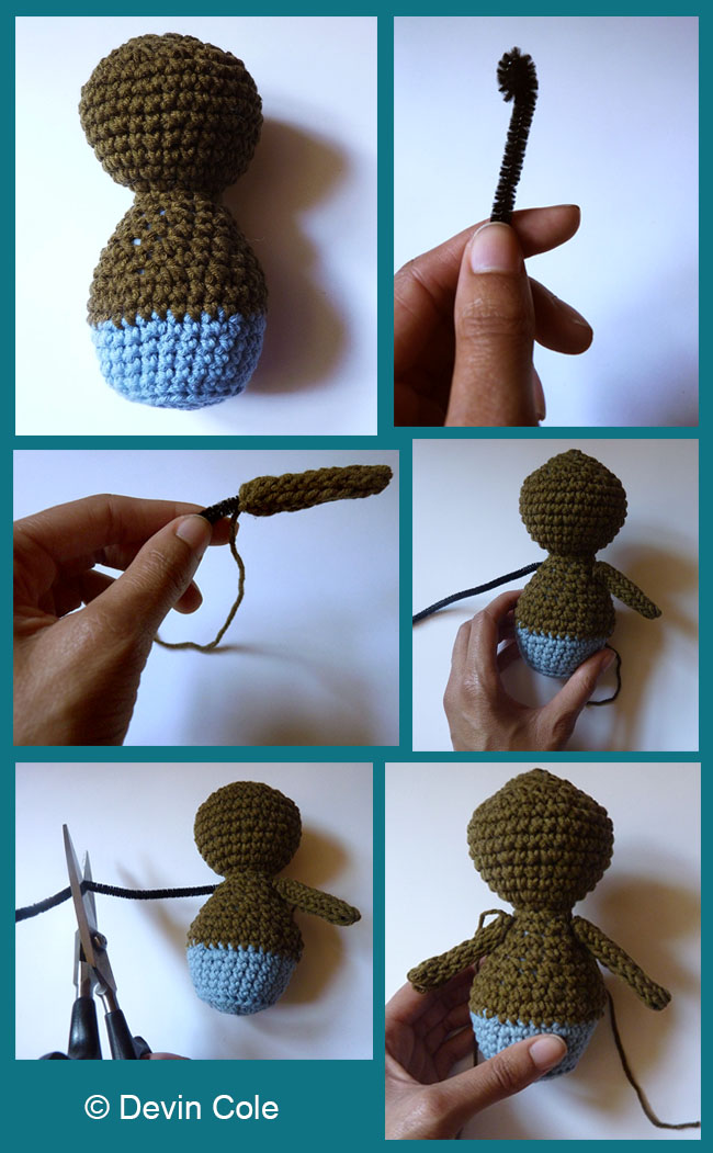 How to Make a Posable Amigurumi Doll