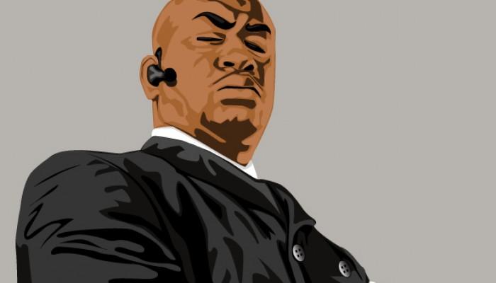Male Portrait Done on Illustrator